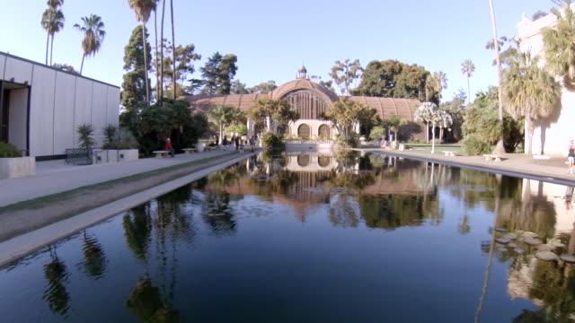 ms pov la people enjoying at balboa park / san diego, california, united states - san diego stock videos & royalty-free footage
