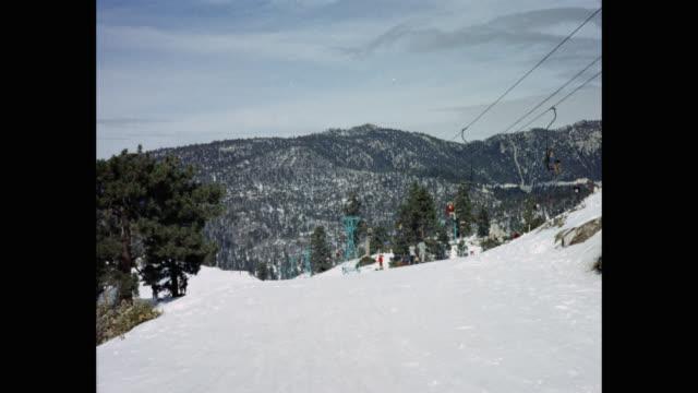 people enjoying at ski resort, usa - ski lift stock videos & royalty-free footage