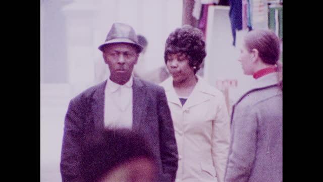 ms people enjoying life in brixton; 1973 - design stock videos & royalty-free footage