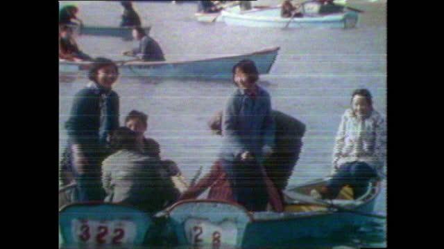 people enjoying themselves in beihai park, beijing; 1981 - 1981 stock videos & royalty-free footage