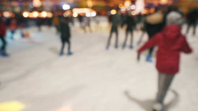 people enjoying winter sports. - ice rink stock videos & royalty-free footage