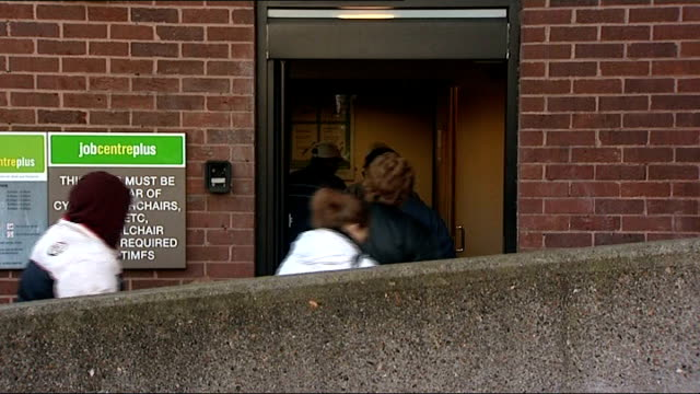 ext people entering job centre plus office - addition key stock videos & royalty-free footage