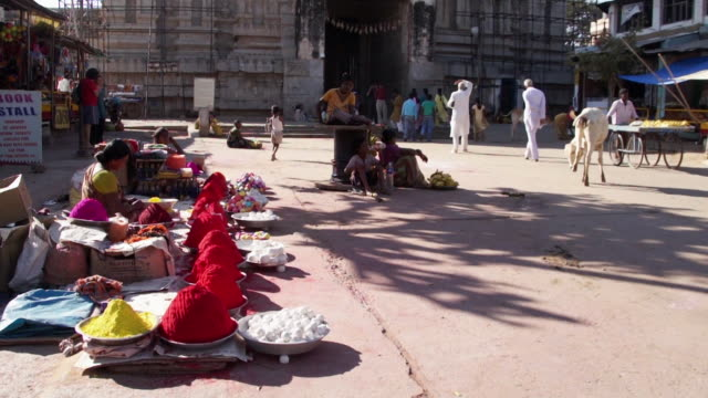 people entering to virupaksha temple in india - history stock videos & royalty-free footage