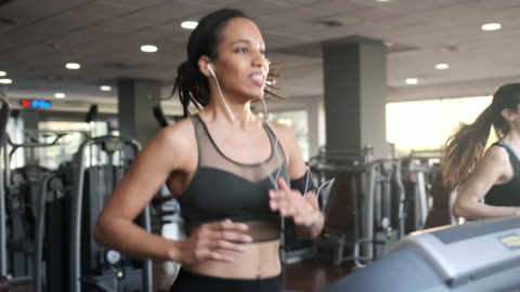 people exercising on a trademill, running. - treadmill stock videos & royalty-free footage