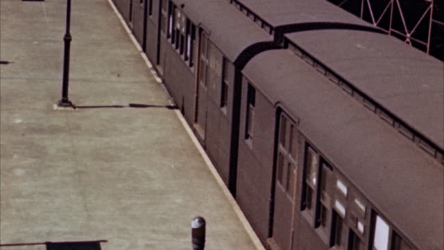 ms people exiting from subway train / new york, new york, united states - 1964 stock videos and b-roll footage