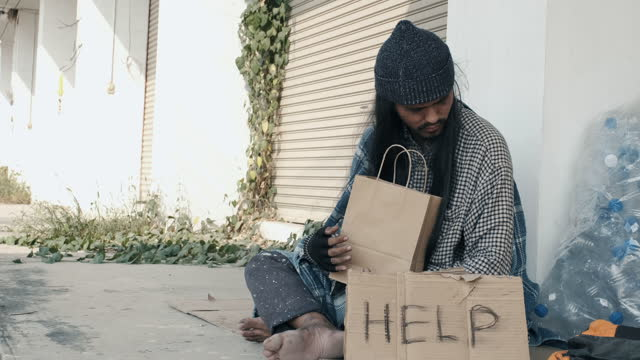 people feed the homeless homeless happy and smile - giving stock videos & royalty-free footage