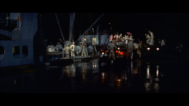 MS People fighting in dock in night