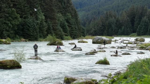People fishing in the lake