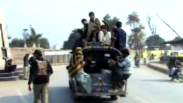 people flee pakistani anti-taliban air strikes in the north waziristan tribal region clean : pakistani flee from bombarded northwestern on january... - peshawar stock videos & royalty-free footage