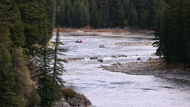 people floating in boats down the snake river in wyoming - river snake stock videos & royalty-free footage