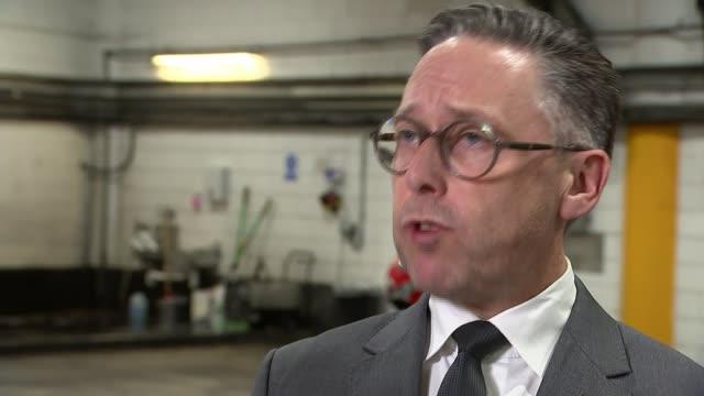 people found dead inside lorry in essex; england: int richard burnett interview sot - エセックス州点の映像素材/bロール