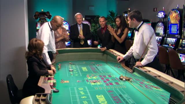 People gambling in casino