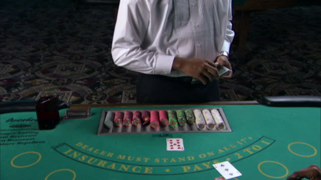people gambling in casino - blackjack stock videos and b-roll footage
