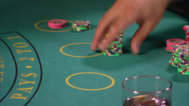 people gambling - blackjack stock videos and b-roll footage