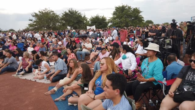 people gather at an interfaith vigil for victims of a mass shooting, which left at least 20 people dead, on august 4, 2019 in el paso, texas. a... - memorial event stock videos & royalty-free footage