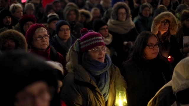 people gather at placedesarts in downtown montreal in solidarity with the first nations women who were sexually assaulted by police in val d'or... - canada stock videos & royalty-free footage