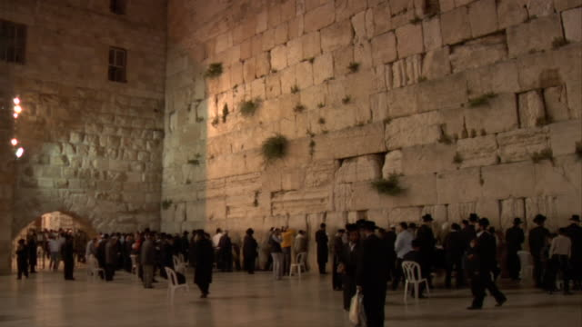 People gather at the Western Wall