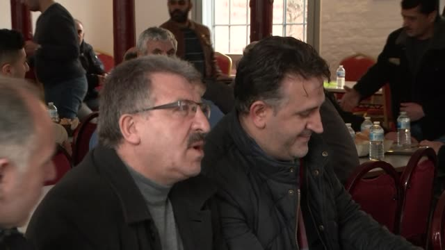 people gather for friday prayers in hanau days after shootings killed 9 people germany hanau int various of men inside kurdish community centre and... - prayer beads stock videos & royalty-free footage