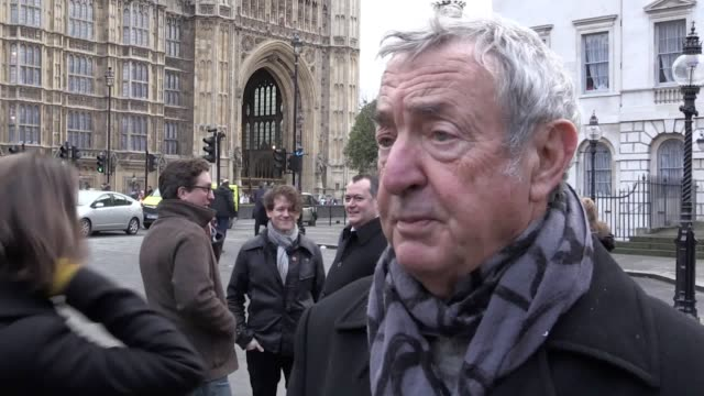 People gather outside the House of Parliament in support of a parliamentary bid to save music venues from closure Interviews with John Spellar and...
