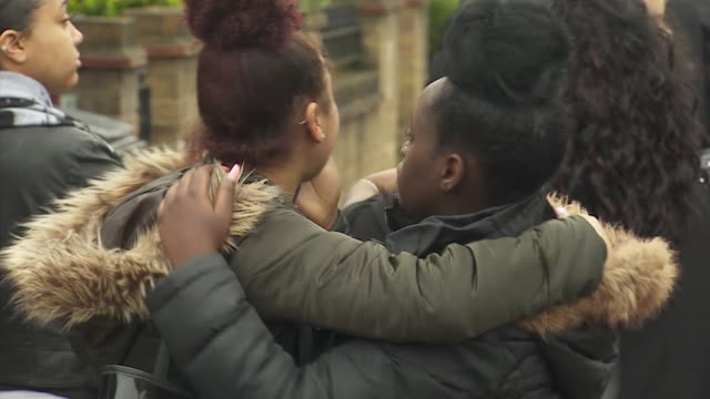 people gather to mourn the death of tanesha melbourne who died from gunshot wounds in tottenham london april 2018 - murder stock videos & royalty-free footage