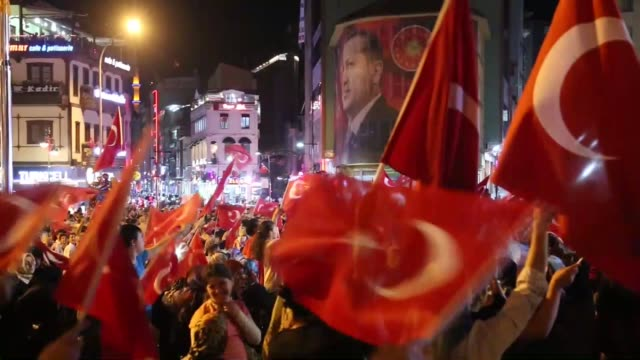 People gather to protest against July 15 failed military coup attempt in Rize Turkey on August 9 2016 Turkish officials accuse USbased Turkish...