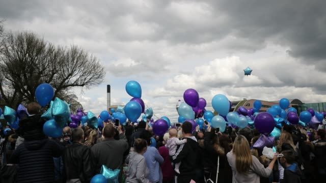 People gather to release balloons in memory of Alfie Evans outside Alder Hey Hospital after terminally ill 23monthold Alfie Evans died at 230am this...