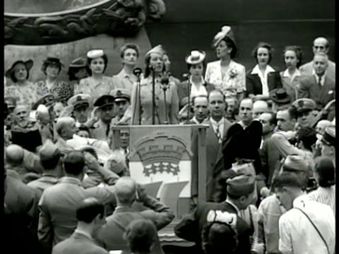 people gathered around gilded statue of prometheus in sunken rockefeller plaza to listen to lily pons singing sot part french national anthem 'la... - gilded stock videos & royalty-free footage