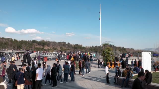 people gathered in a park of tehran - iran stock videos & royalty-free footage