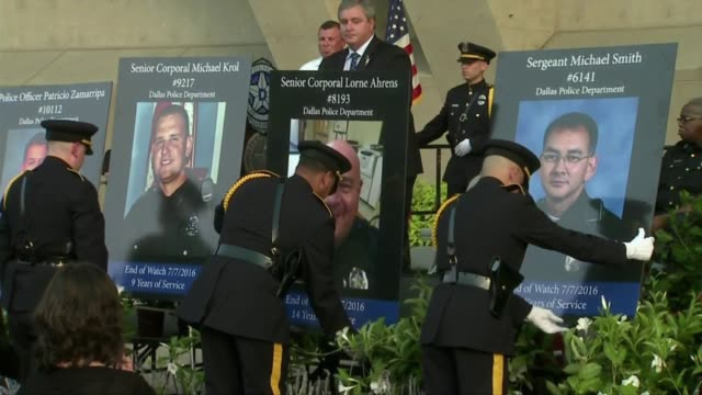 kdvr people gathered in downtown dallas to attend a candlelight vigil for the five police officers killed during a protest march - memorial event stock videos & royalty-free footage