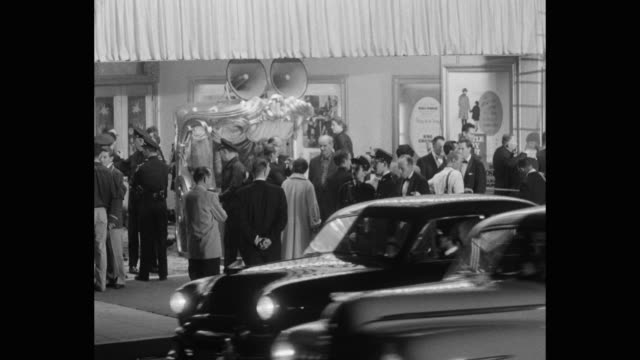people gathered outside theater - 1950 stock videos & royalty-free footage