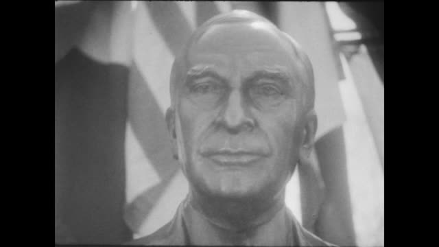 people gathered to pay tribute to former secretary of state cordell hull at the unveiling of his bust in the pan american union gardens / crowd... - cordell hull stock videos and b-roll footage