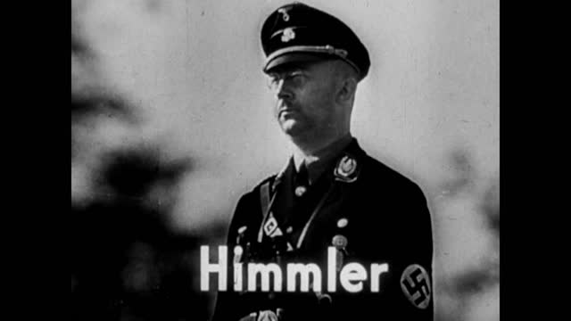 stockvideo's en b-roll-footage met people getting food by cards - people working in concentration camps - execution by firing squad - portrait of himler - heinrich himmler