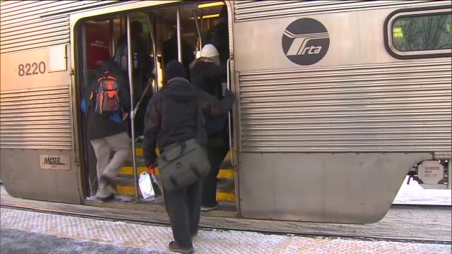 people getting onto train - transport conductor stock videos & royalty-free footage