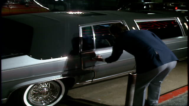 People Getting out of a Grey Limo at Elvira Mistress of the Dark Premiere in Los Angeles California