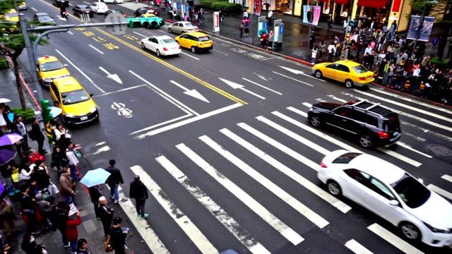 人的には、にぎやかな台北のダウンタウン、台湾、中国 - 台北市点の映像素材/bロール
