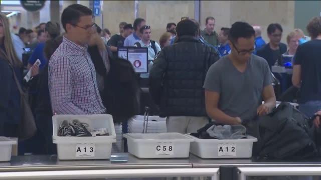 KTLA People Going Through TSA at LAX Airport