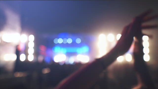 people having fun at concert. - obscured face stock videos & royalty-free footage