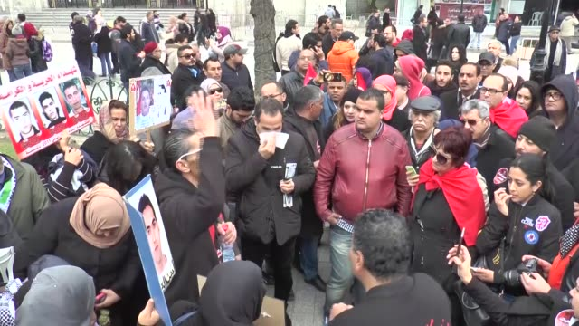 vídeos de stock, filmes e b-roll de people held a demonstration in tunis tunisia on january 14 2017 for the 6th anniversary of revolution in tunisia revolution in tunisia is accepted as... - arab spring