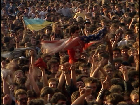 people hold up 'ozzy' banner - ozzy osbourne stock videos & royalty-free footage