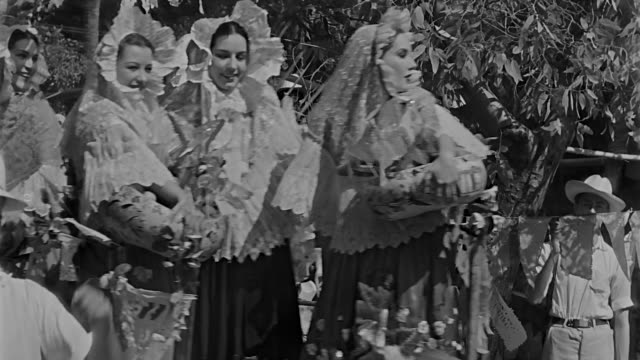 people in a parade in a small village in mexico wearing traditional mexican clothes and outfits from the 1930s - 1930 stock videos & royalty-free footage