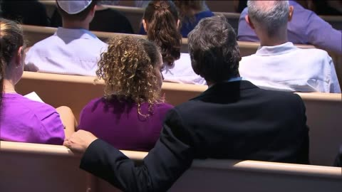 people in a synagogue for rosh hashanah service on september 05, 2013 in los angeles, california - gottesdienst stock-videos und b-roll-filmmaterial