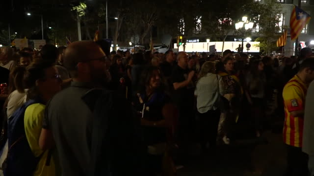 People in Catalonia protesting after the Spanish government temporarily revoked their autonomy