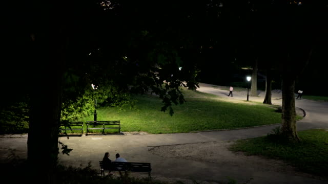 Park Bench At Night Videos And B Roll Footage