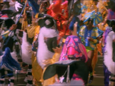 PAN people in colorful costumes dancing at Carnival
