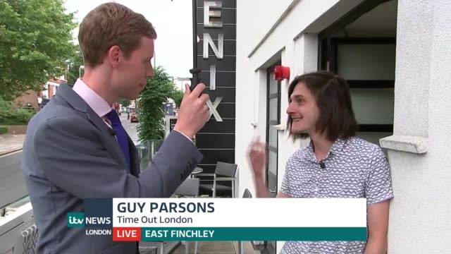 people in east finchley the happiest in london england london east finchley ext guy parsons live interview on what makes east finchley such a happy... - finchley stock videos and b-roll footage