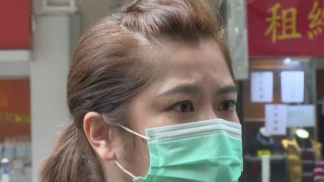 vídeos y material grabado en eventos de stock de people in hong kong are worried that a mysterious pneumonia outbreak in mainland china will continue to spread - neumonía