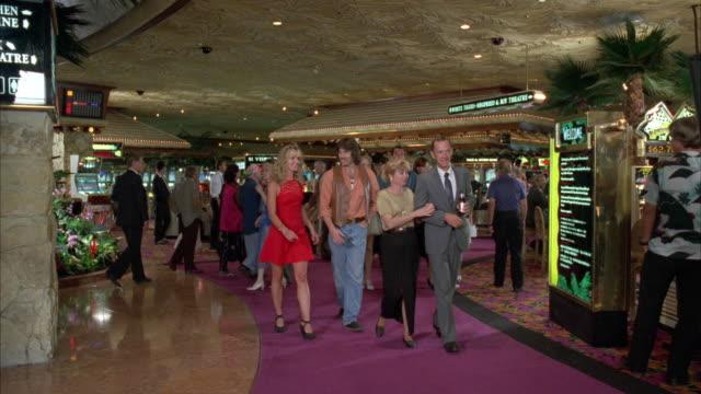 WS POV People in Las Vegas Casino / Las Vegas, Nevada, USA