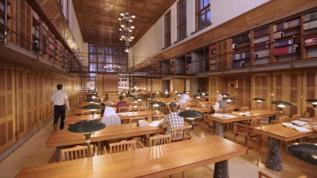 cs people in library's reading room - library stock videos & royalty-free footage