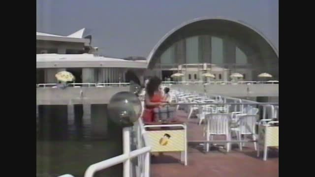 people in lignano beach in 80's - toned image stock videos & royalty-free footage