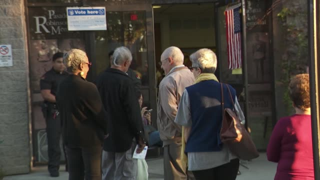 ktla people in line for early voting - midterm election stock videos & royalty-free footage